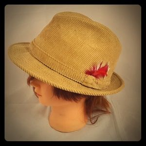Vintage Corduroy Fedora Hat